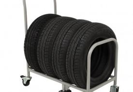 Carrinho retrátil para transporte de pneus (TM-103)